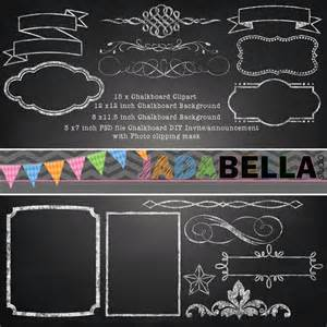 instant download set of 15 chalkboard clipart 1 photoshop