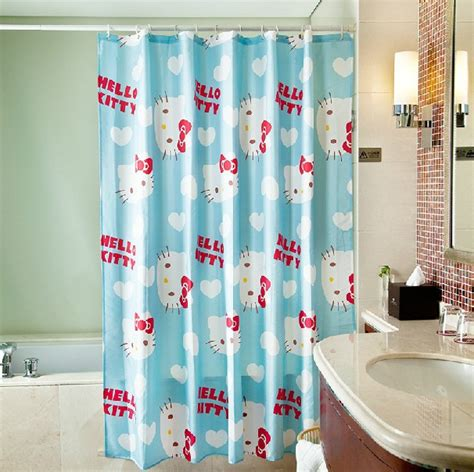 shower curtains for kids bathrooms cute cartoon lovely hello kitty shower curtain for kids