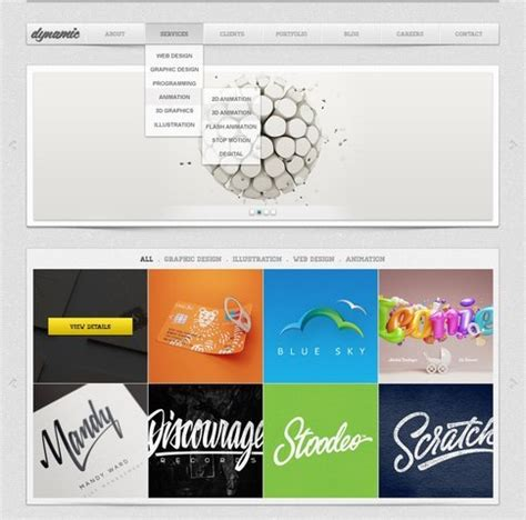 dynamic free psd website template free vector 365psd com