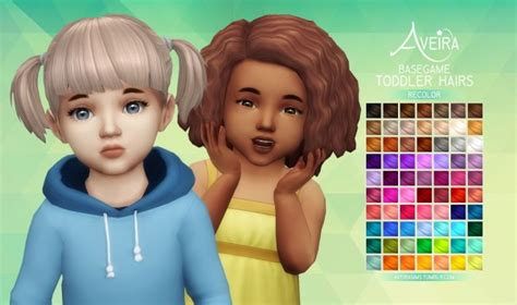 sims 4 toddler eyes cc aveira sims 4 basegame toddler hairs recolor sims 4