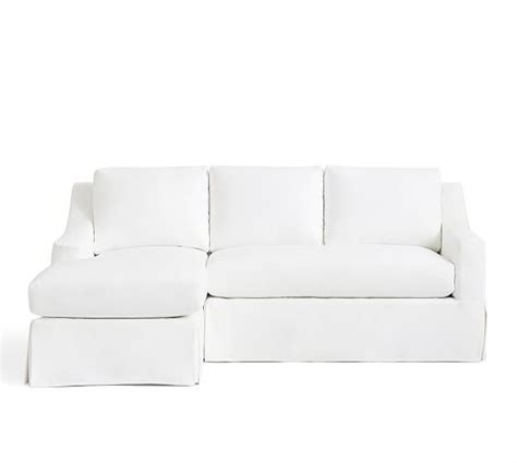 york slope arm slipcovered sofa with chaise sectional
