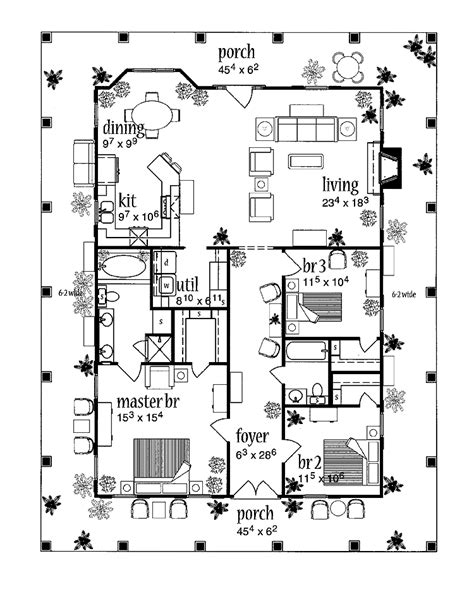 country floor plans with porches country house plans with porches home design ideas