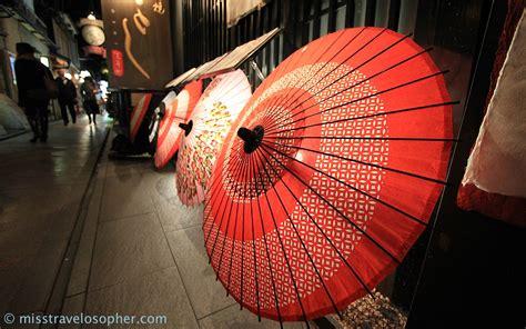 Patio Umbrella Lighting Geisha And Maiko Traditional Kyoto Japan Miss
