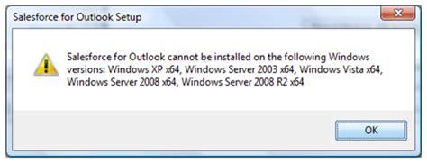fix microsoft exchange error message windows xp vista windows salesforce for outlook error messages match my email
