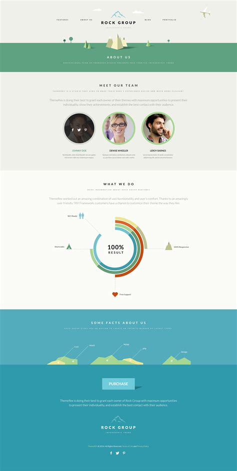 themeforest infographics rock group multipurpose infographic theme by themerex