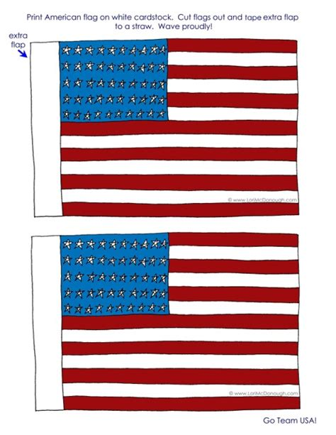 printable american flag a4 american flag printable kids crafts pinterest