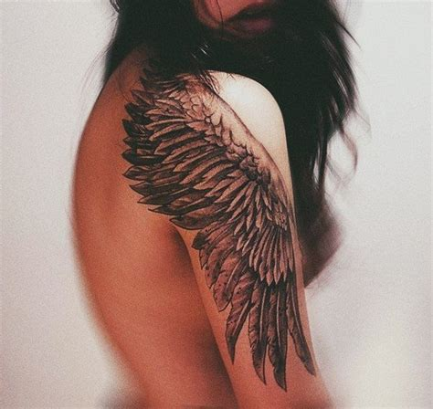 Tattoo Of Angel Wings On Shoulders | wing tattoo on the shoulder looks gorgeous tattoos and
