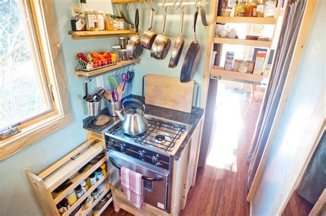 alek s tiny house project tiny house pantry storage contemporary kitchen