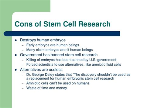 stem cell research thesis pros cons stem cell research essays pros and cons of