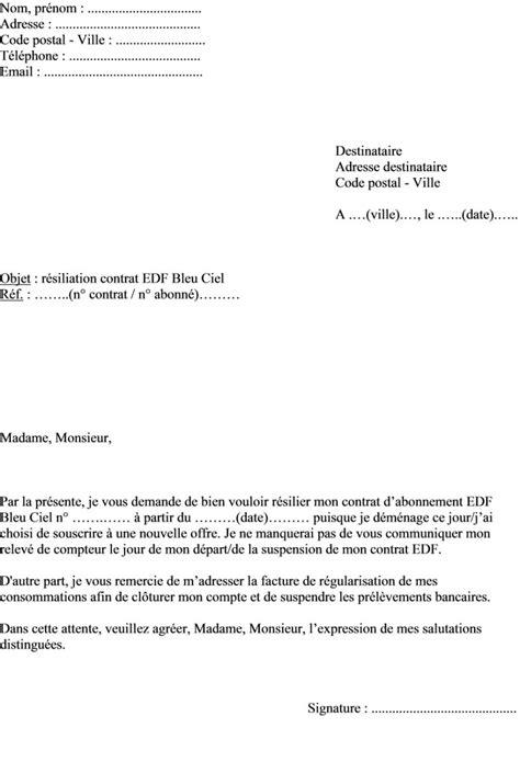 Lettre De Resiliation Mobile Cause Deces Exemple Lettre Resiliation Edf