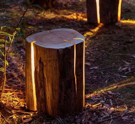 build pit around tree stump diy illuminated tree stumps