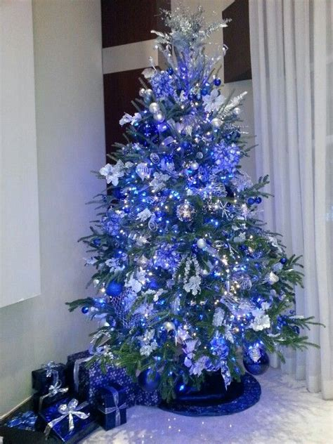 34 blue tree decorations ideas blue