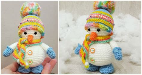 amigurumi snowman pattern free snowman amigurumi free crochet pattern stylesidea