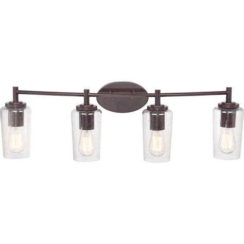 Bathroom Lighting Fixtures Quoizel Eds8604wt Edison With Western Bronze Finish Bath Fixture And 4 Lights Brown