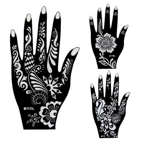 large henna tattoo aliexpress buy 20pcs large mehndi henna