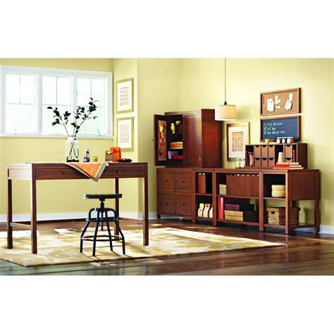 martha stewart living craft space storage sequoia wood