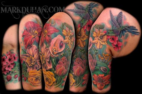 floral half sleeve tattoo designs flower half sleeve by amduhan on deviantart