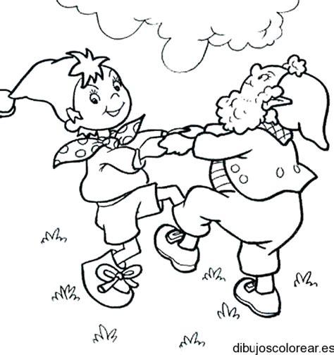 imagenes de niños jugando rondas para colorear duendes