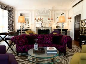 Purple Home Decor Ideas Purple Berry Sofa Living Room Apartment Eclectic Decor Home Ideas Home Interior Design