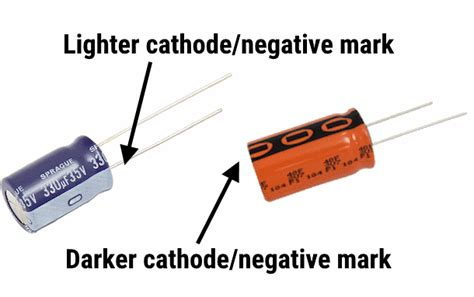 capacitor anode positive or negative the footprint files electrolytic capacitors macrofab