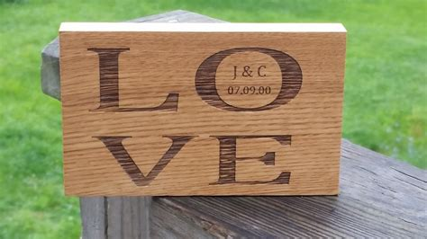 5th Wedding Anniversary Engraving Ideas by 5th Anniversary Gift Ideas Engraved Wood Plaque