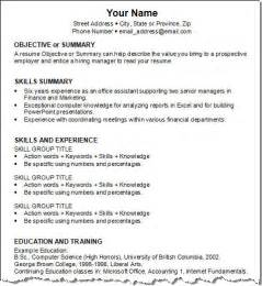 Basic Resume Exles by Basic Resume Template
