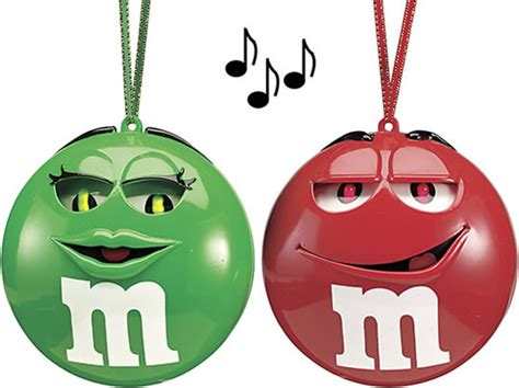 singing m m christmas ornaments