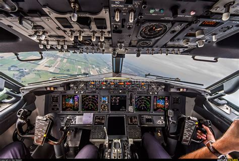 b737 max flight deck ph bxr klm boeing 737 900 at in flight netherlands
