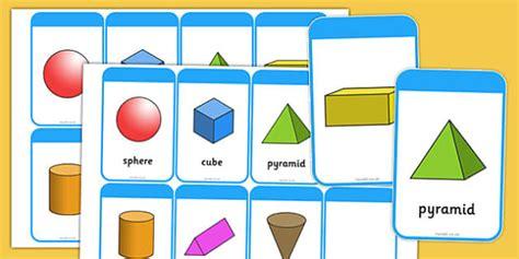 shape flash cards template 3d shape flashcards inc shape names 3d shape names shape