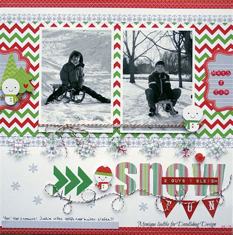 Snow Layout by Doodlebug Design Inc Snow Layout By