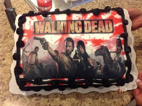 walking dead cake  walking dead party pinterest walking  ojays   walking
