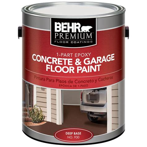 Garage Floor Paint 5 Gallon Behr Premium 1 Gal 1 Part Epoxy Concrete And Garage Floor