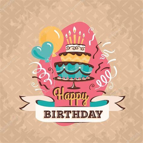 imagenes vintage happy birthday tarjeta de felicitaci 243 n de cumplea 241 os vintage con