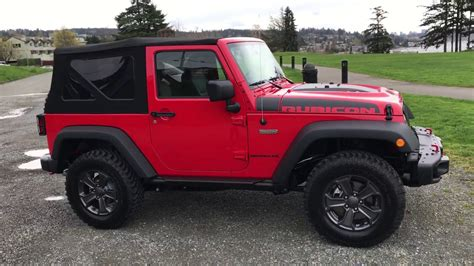 jeep red two door 2017 jeep rubicon recon youtube