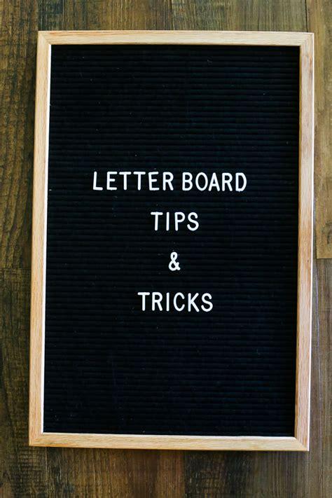 Letter Board felt letter board tips tricks renovations