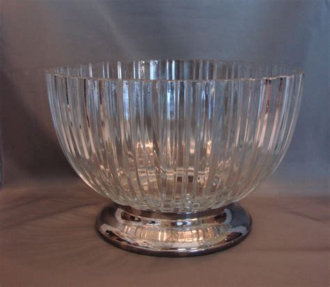 fine crystal godinger heavy fine crystal glass bowl with silverplated