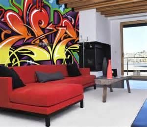 graffiti wohnzimmer decoraci 243 n y dise 241 o de salas urbanas