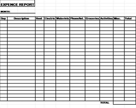 expenses log template daycare expense spreadsheet autos post