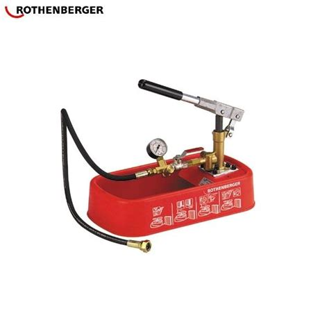 Plumbing Pressure Tester by Rothenberger Rp 30 Manual Pressure Testing 0 30 Bar
