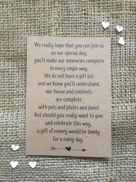 Wedding Gift Money Canada by Wedding Gift List Wording Charity Gift Ftempo