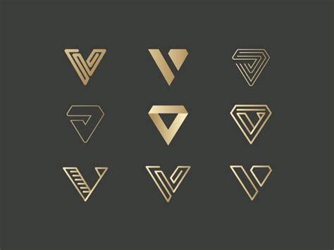logo pattern branding v for vanquish logo proposals proposals logos and icons
