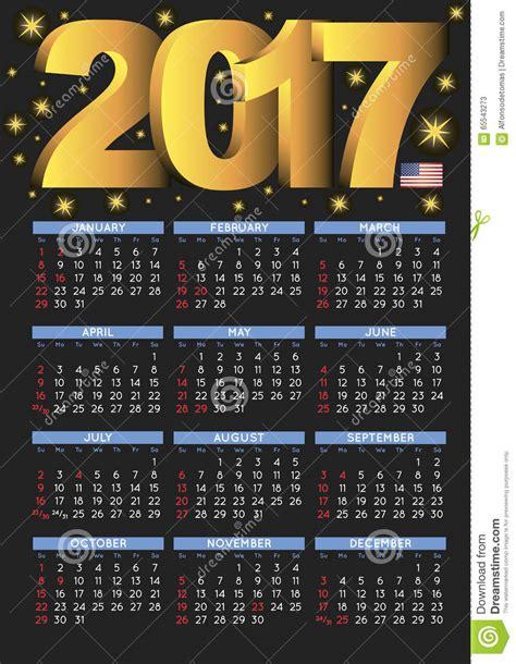 Calendario Negro 2017 D 237 As Festivos De Los E E U U Calendario Negro