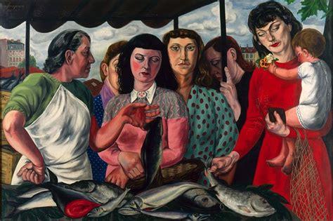 etienne fougeron andre fougeron parisiennes au march 233 1947 48 painting
