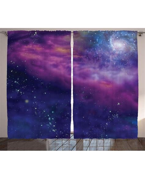 outer space window curtains outer space curtain galaxy nebula star print 2 panel