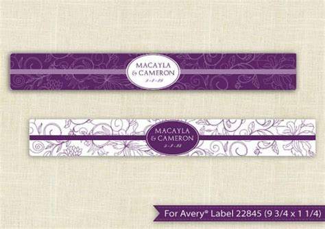 Downloadable Water Bottle Label Template For Avery 174 22845 9 3 4 X 1 1 4 Editable Text Bottle Label Template Word