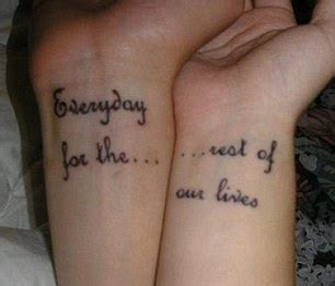 couple tattoos that fit together what were you inking the embarrassing matching tattoos