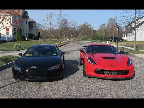 lance stewart audi r8 audi r8 vs z06 c7 which is faster supercars