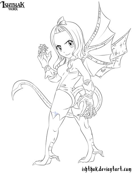 fairy tail coloring pages chibi chibi mirajane lineart by ishthak on deviantart