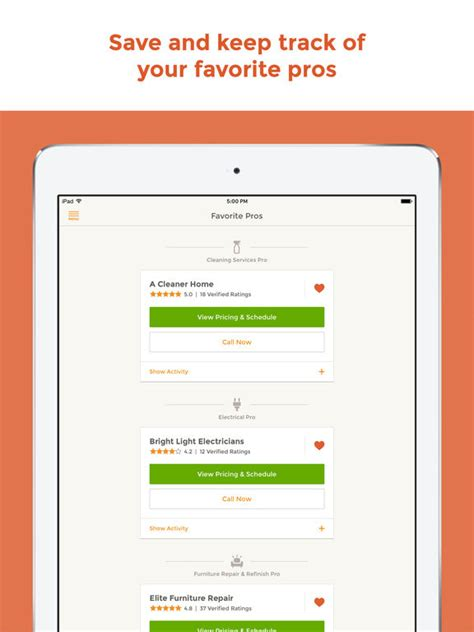 homeadvisor find book top home pros on the app store
