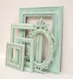 home decor photo frames shabby chic frames pastel mint green picture frame set ornate
